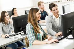 Young people in the classroom Royalty Free Stock Photos