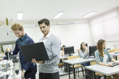 Young people in the classroom Stock Photo