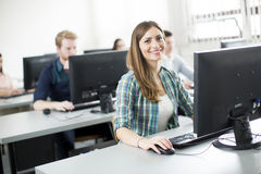 Young people in the classroom Stock Photography