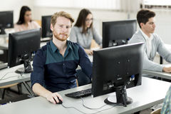Young people in the classroom Royalty Free Stock Photography