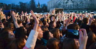 Young people on the concert. royalty free stock photos