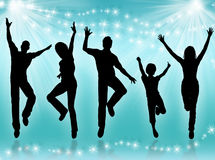 Young people dancing Stock Photography
