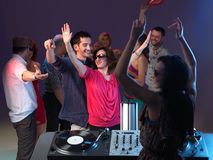 Young people dancing carelessly Royalty Free Stock Image