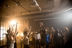 Young People Dancing in Club stock photography