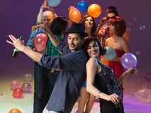 Young people dancing and having fun Royalty Free Stock Photo
