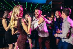 Free Young People Dancing In Night Club Stock Image - 165745021