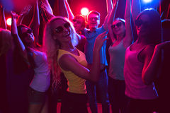 Young people dancing in a nightclub Stock Images