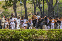 Young people dancing in a park in Havanna, Cuba Stock Photography