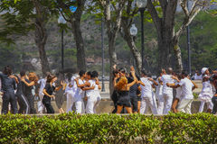 Young people dancing in a park in Havanna, Cuba Royalty Free Stock Photo