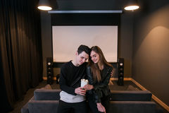 Young people on date. Love relationship stock photography
