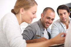 Young people discussing new project Royalty Free Stock Photography