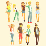 Young People Dressed Fashionably Royalty Free Stock Images