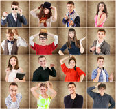 Young people emotional portraits Royalty Free Stock Photography