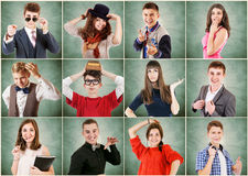 Young people emotional portraits Royalty Free Stock Images