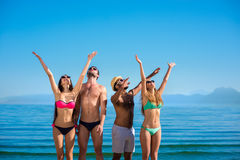 Young people enjoying the holiday on the island. Royalty Free Stock Photos