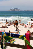 Young People Enjoying Ipanema Beach Royalty Free Stock Images