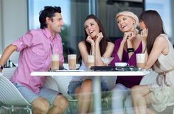 Young people enjoying lunch. Break Royalty Free Stock Photos