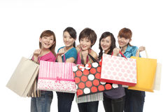 Young people excited about shopping Royalty Free Stock Photography