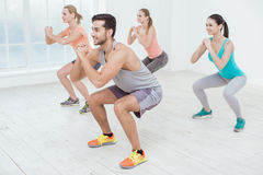 Young People Exercise Together Healthy Lifestyle Concept. Young active group of people exercise together healthy lifestyle Royalty Free Stock Image