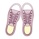 Young people fashion shoes. Vector illustration design royalty free illustration