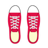 Young people fashion shoes. Vector illustration design stock illustration