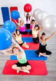 Young people in the fitness club Royalty Free Stock Photography