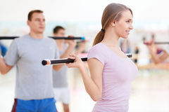 In the gym Royalty Free Stock Photography