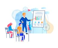 Young People Gain Knowledge from Business Trainer stock illustration