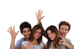Young people gesticulating. Group of young people gesticulating Stock Photo