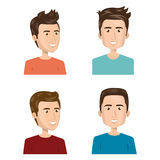 Young people group avatars characters. Vector illustration design Royalty Free Stock Image