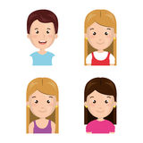 Young people group avatars characters. Vector illustration design Stock Photo