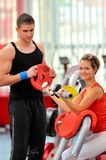 Young people in the gym Stock Photo