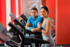 Young people in the gym Royalty Free Stock Image