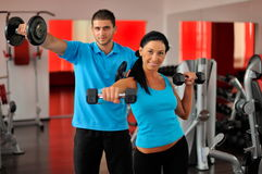 Young people in the gym Stock Photography