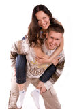 Young people have fun Royalty Free Stock Photo