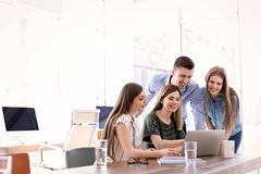 Young people having business training. In office royalty free stock images
