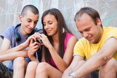 Young people having fun Royalty Free Stock Image