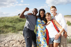 Young People Having Fun On Beach Together royalty free stock images