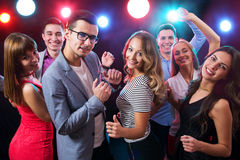 Young people having fun dancing Stock Photography
