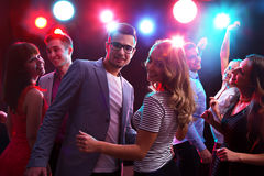 Young people having fun dancing Royalty Free Stock Image