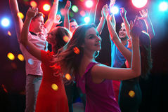 Young people having fun dancing Royalty Free Stock Photography