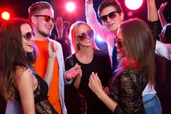 Young people at party. Young people having fun dancing at party Royalty Free Stock Photo