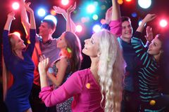 Young people at party royalty free stock image