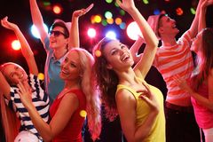 Young people at party stock image