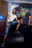Young people having fun at night club Royalty Free Stock Photos