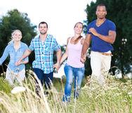 Young people having fun outside royalty free stock photos