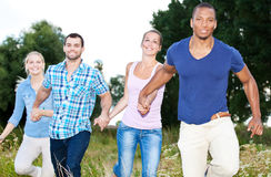 Young people having fun outside Stock Images