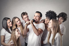 Young people having fun Royalty Free Stock Images