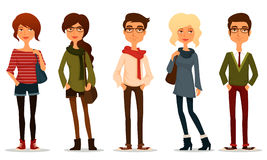 Young people with hipster fashion style Stock Photography