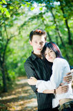 Young people hugging Royalty Free Stock Photography